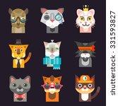 cute cat avatar illustration... | Shutterstock .eps vector #331593827