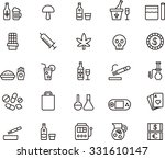 drugs   addictions outline icons | Shutterstock .eps vector #331610147