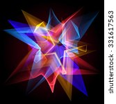 glowing star and blending... | Shutterstock .eps vector #331617563