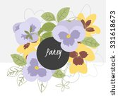 Illustration Pansy Flower...