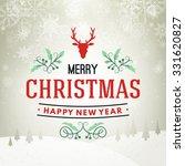 christmas postcard typographic... | Shutterstock .eps vector #331620827