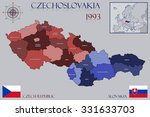 map of czechoslovakia | Shutterstock .eps vector #331633703