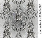 classic damask pattern | Shutterstock . vector #331634303