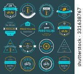set of badges and logos cycling.... | Shutterstock .eps vector #331638767