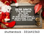 blackboard with a christmas... | Shutterstock . vector #331641563