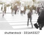 pedestrian on zebra in motion...   Shutterstock . vector #331643327