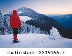Winter Landscape. Tourist In...