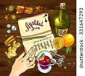beautiful vector hand drawn... | Shutterstock .eps vector #331647293