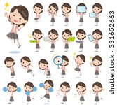 set of various poses of pink... | Shutterstock .eps vector #331652663