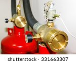 fire extinguishing system in... | Shutterstock . vector #331663307