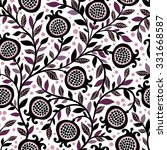 seamless floral pattern with... | Shutterstock .eps vector #331668587