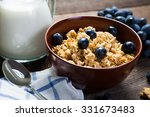 oatmeal with grapes  healthy... | Shutterstock . vector #331673483