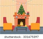 christmas room interior....   Shutterstock .eps vector #331675397