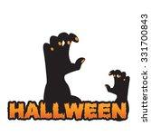 halloween zombie hand vector... | Shutterstock .eps vector #331700843