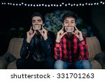closeup of two funny young men... | Shutterstock . vector #331701263