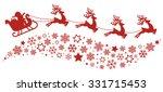 Santa Sleigh Reindeer Flying...