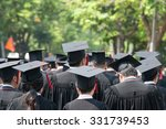 back of graduates during... | Shutterstock . vector #331739453