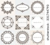 collection of vintage classic... | Shutterstock .eps vector #331744793