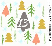 advent calendar. vector... | Shutterstock .eps vector #331754177