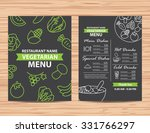restaurant  vegetarian and... | Shutterstock .eps vector #331766297
