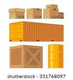 brown carton packaging box ... | Shutterstock .eps vector #331768097