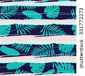 tropical floral pattern ....   Shutterstock .eps vector #331772273