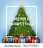 merry christmas typographical... | Shutterstock .eps vector #331777937