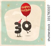 vintage style funny 30th... | Shutterstock .eps vector #331783337