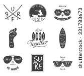 surfer vector set. vintage... | Shutterstock .eps vector #331783673
