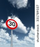 roadsign speed limit thirty... | Shutterstock . vector #331789337