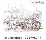 Horse Drawn Landau Waiting For...