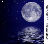 full moon and stars reflected... | Shutterstock . vector #331809287