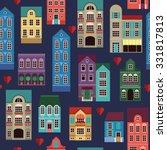 vintage house pattern | Shutterstock .eps vector #331817813
