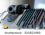 Mixing Console With Headphones