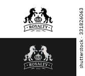 vector monogram logo template.... | Shutterstock .eps vector #331826063