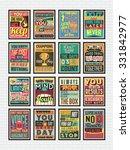 set of retro vintage... | Shutterstock .eps vector #331842977