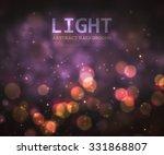 bokeh light in night vintage... | Shutterstock .eps vector #331868807