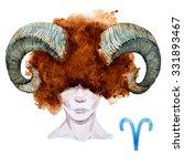 Zodiac Sign  Watercolor...