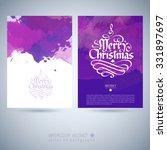 vector christmas watercolor... | Shutterstock .eps vector #331897697