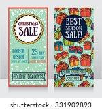 templates for christmas sale... | Shutterstock .eps vector #331902893