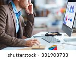 young businessman sitting in...   Shutterstock . vector #331903733