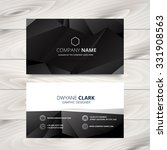 dark modern business card... | Shutterstock .eps vector #331908563