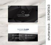 dark modern business card... | Shutterstock .eps vector #331908563