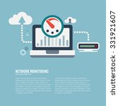 network monitoring and cloud... | Shutterstock .eps vector #331921607