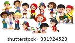 group of international children ... | Shutterstock .eps vector #331924523