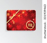 vip cards with gold letters and ... | Shutterstock .eps vector #331939463