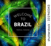 welcome to brazil  vector... | Shutterstock .eps vector #331960343