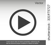 play button web icon | Shutterstock .eps vector #331975727