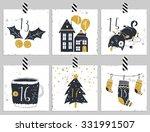 advent calendar.six days of... | Shutterstock .eps vector #331991507