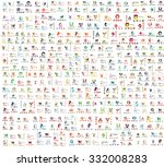 Mega collection of abstract company logo design concepts, lettering and typography. Vector illustration | Shutterstock vector #332008283